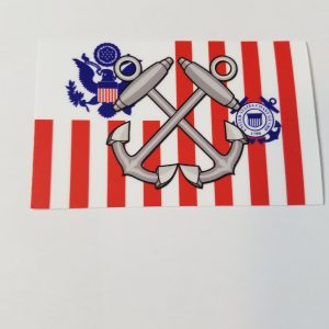 Boatswain Mate Anchors on Coast Guard Ensign USCG Sticker