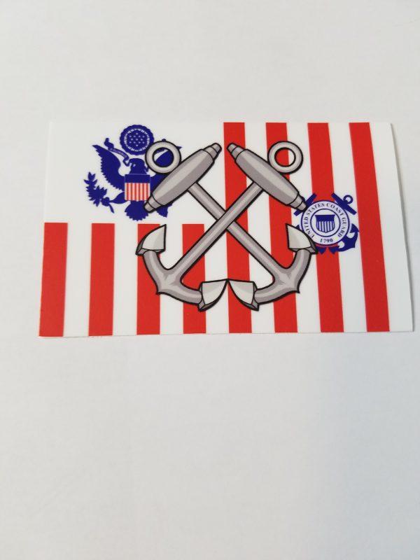 Boatswain Mate Anchors on Coast Guard Ensign USCG Sticker