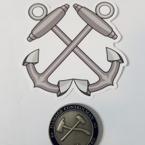 "Boatswain Mate Anchors 4"" USCG / Coast Guard Ensign Sticker"