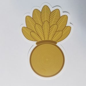 "Warrant Officer Gold WEPS pineapple 4"" Sticker with Racing Stripe USCG Coast Guard Coastie Sticker Salty For You"