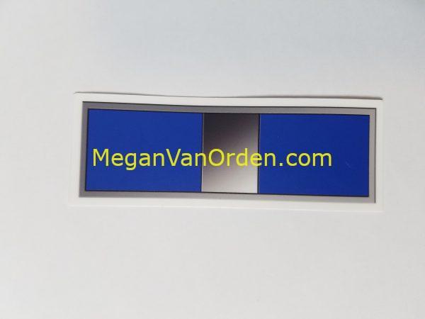 "Warrant Officer silver Bar W3 4"" Sticker with Racing Stripe USCG Coast Guard Coastie Sticker Salty For You"