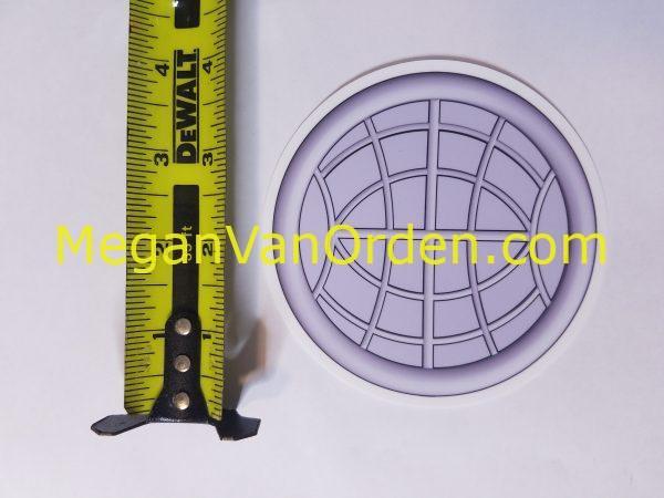 "EM Silver globe 4"" Sticker Electrician Mate with Racing Stripe USCG Coast Guard Coastie Sticker Salty For You"