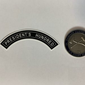 President's Hundred Tab Sticker with Racing Stripe USCG Coast Guard Coastie Sticker Salty For You