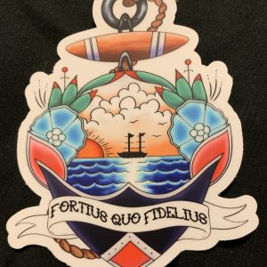 coastie wife loyalty sticker uscg