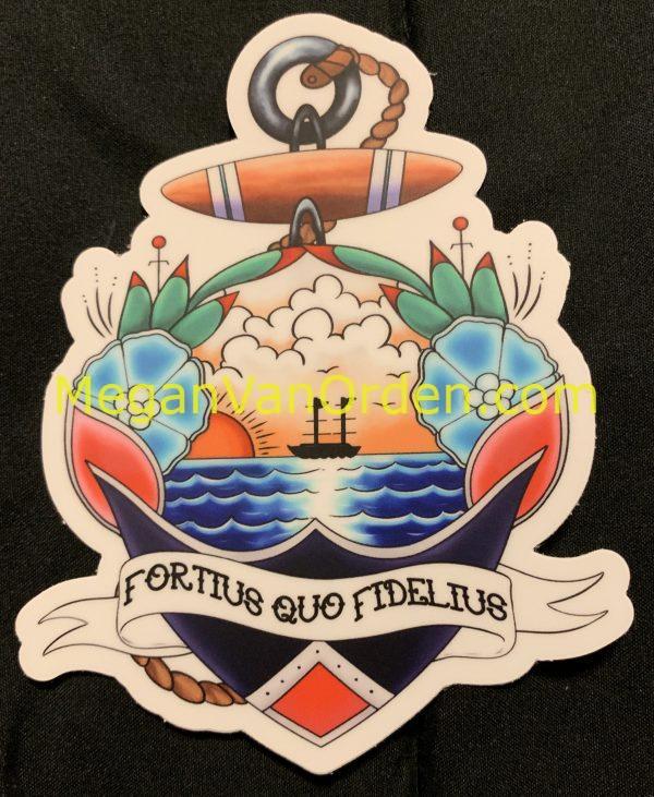 coastie wife loyalty sticker uscg