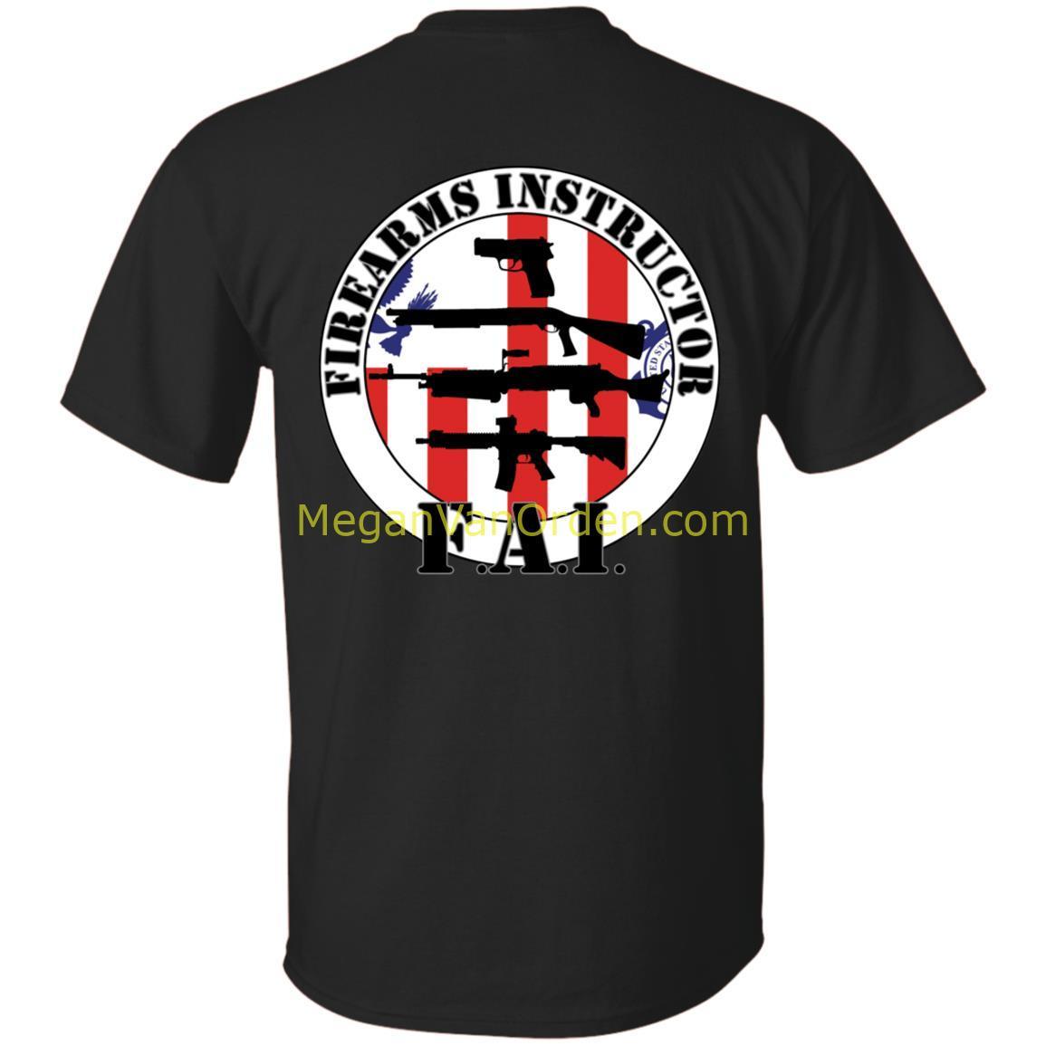 Firearms Instructor FAI Coastie Tshirt w/ black letters ...