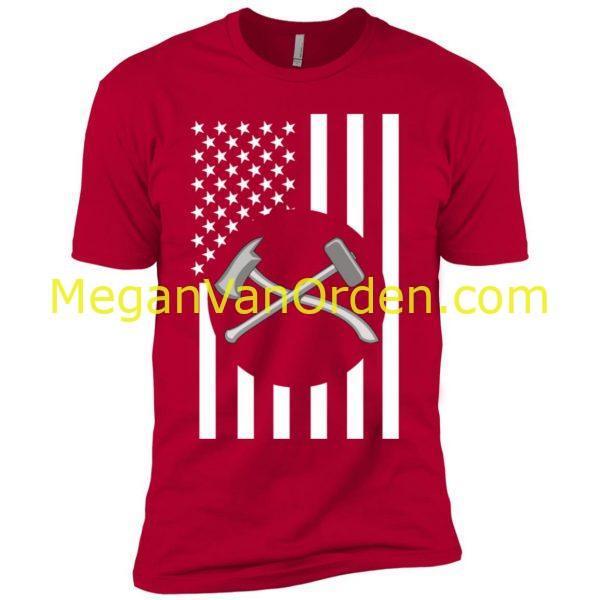 damage controlman uscg tshirt coastie on usa american flag