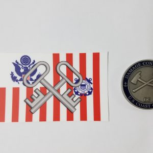 Storekeeper on USCG ensign with Racing Stripe USCG Coast Guard Coastie Sticker Salty For You