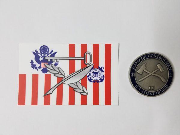 culinary specialist sticker uscg with Racing Stripe USCG Coast Guard Coastie Sticker Salty For You