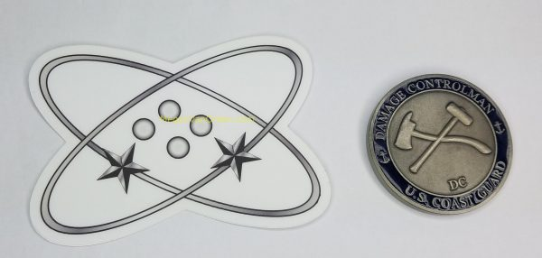 """Electronics Technician 4"""" Sticker ET uscg coast guard"""