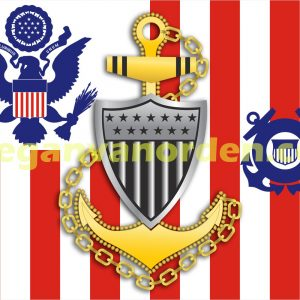 chief-coast_guard_ensign_with Racing Stripe USCG Coast Guard Coastie Sticker Salty For You