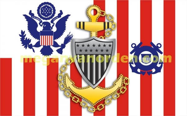 chief-coast_guard_ensign_with Racing Stripe USCG Coast Guard Coastie Sticker Salty For You