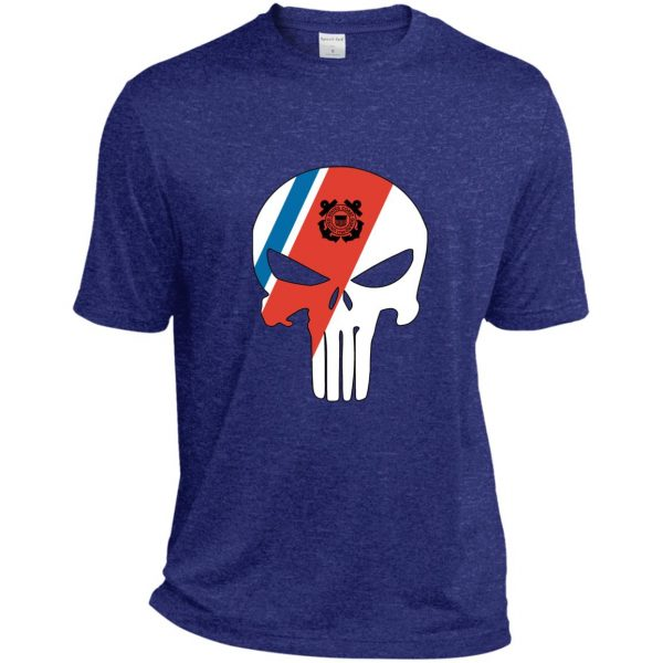 Coast Guard Punisher skull with racing stripe uscg coastie