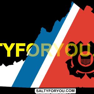 USCG Virginia united states coast guard racing stripe- sticker