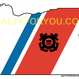 uscg Oregon state outline coast guard sticker-website