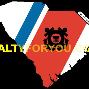 uscg south carolina state outline coast guard sticker-website