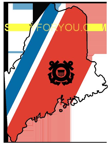 MAINE USCG with Racing Stripe USCG Coast Guard Coastie Sticker Salty For You
