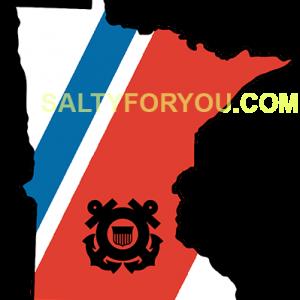 Minnesota with Racing Stripe WEBSITE USCG Hoodie Coast Guard Coastie sticker