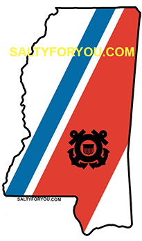 MS USCG with Racing Stripe USCG Coast Guard Coastie Sticker Salty For You