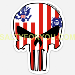 USCG Punisher Skull USCG Coast Guard Coastie