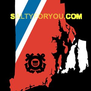 RI USCG with Racing Stripe USCG Coast Guard Coastie Sticker Salty For You