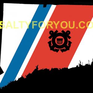 CT USCG with Racing Stripe USCG Coast Guard Coastie Sticker Salty For You