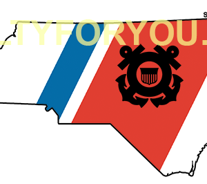 north carolina USCG with Racing Stripe USCG Coast Guard Coastie Sticker