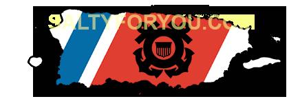 puerto rico USCG with Racing Stripe USCG Coast Guard Coastie Sticker