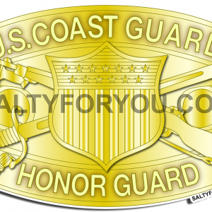 HONOR GUARD-COAST GUARD STICKER- USCG-WEBSITE logo