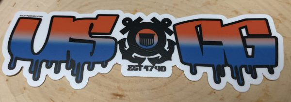 USCG Graffiti Sticker Coast Guard Coastie