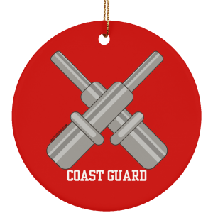 Gunners Mate USCG Christmas Ornament Coastie Coast Guard GM