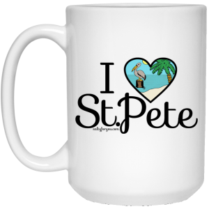 I love St Pete sticker saint petersburg coffee mug