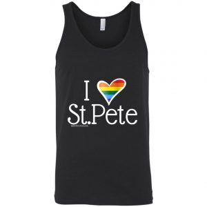 Gay Pride tank top I love st.pete tshirt