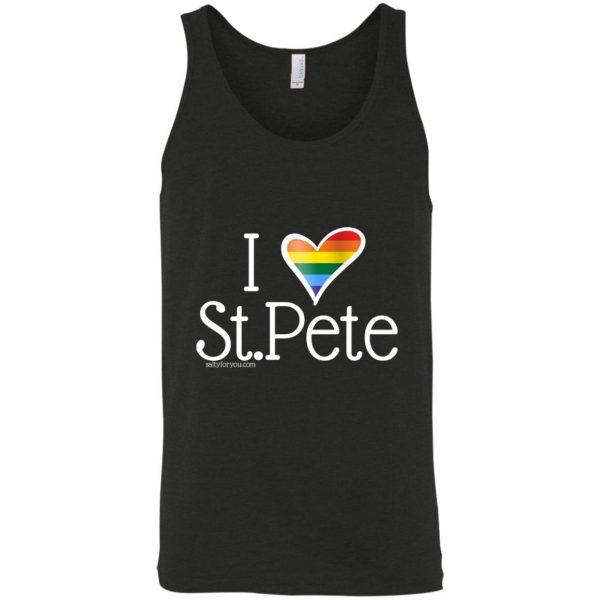 Gay Pride tank top I love st.pete tshirt
