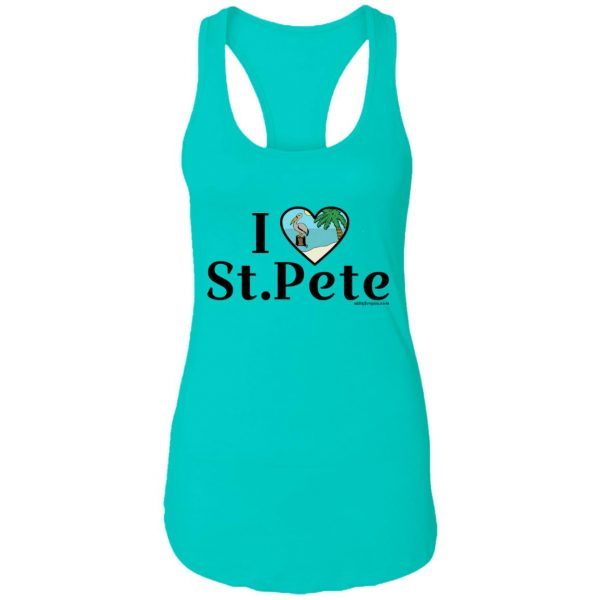 womens sleeveless I love st.pete tshirt