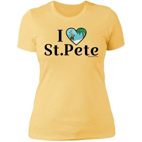 womens I love st.pete tshirt