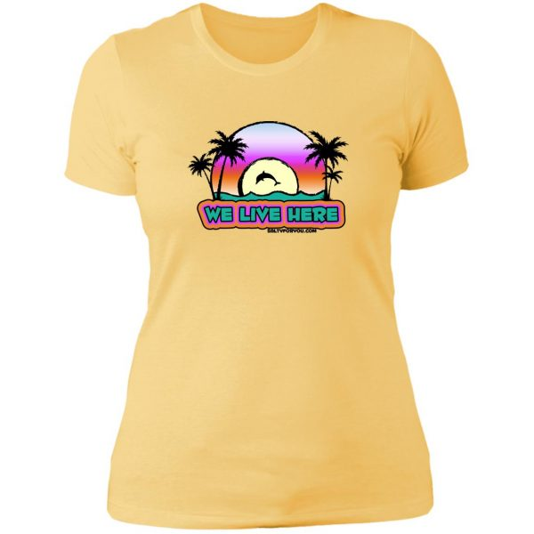 we live here st. pete t shirt