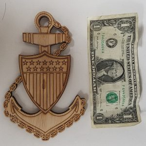 e7 charge book hat box wooden chief anchor coast guard